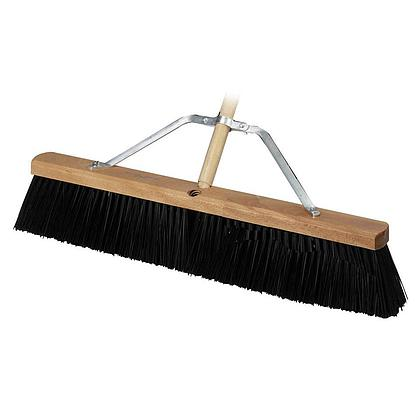 "HD Concrete Broom 24"" w/handle"
