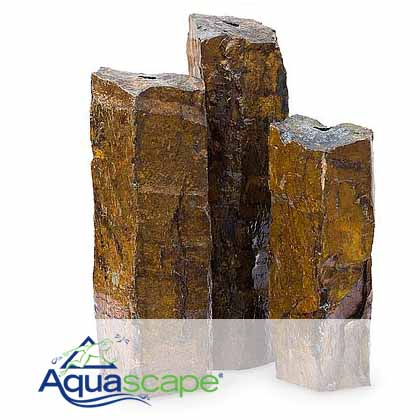 "Natural Mongolian Basalt Columns Set Of 3(24"", 30"", 36"")"